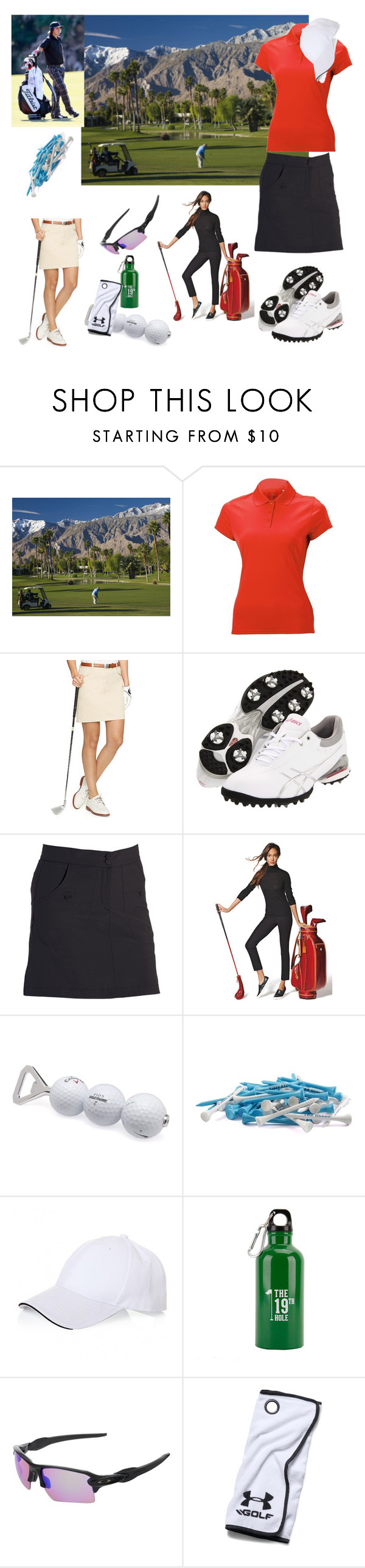 """""""# Golf at its best"""" by smakena ❤ liked on Polyvore featuring Nancy Lopez, Ralph Lauren, Asics, Park, Tokens & Icons, Team Golf, Dibor, Oakley and Under Armour"""