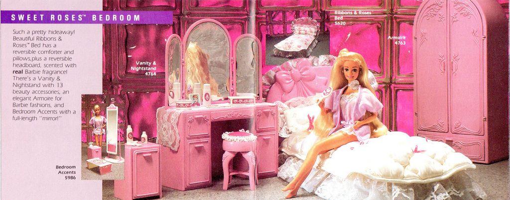Barbie Sweet Roses Furniture | Barbie bedroom, 80 s and Barbie ...
