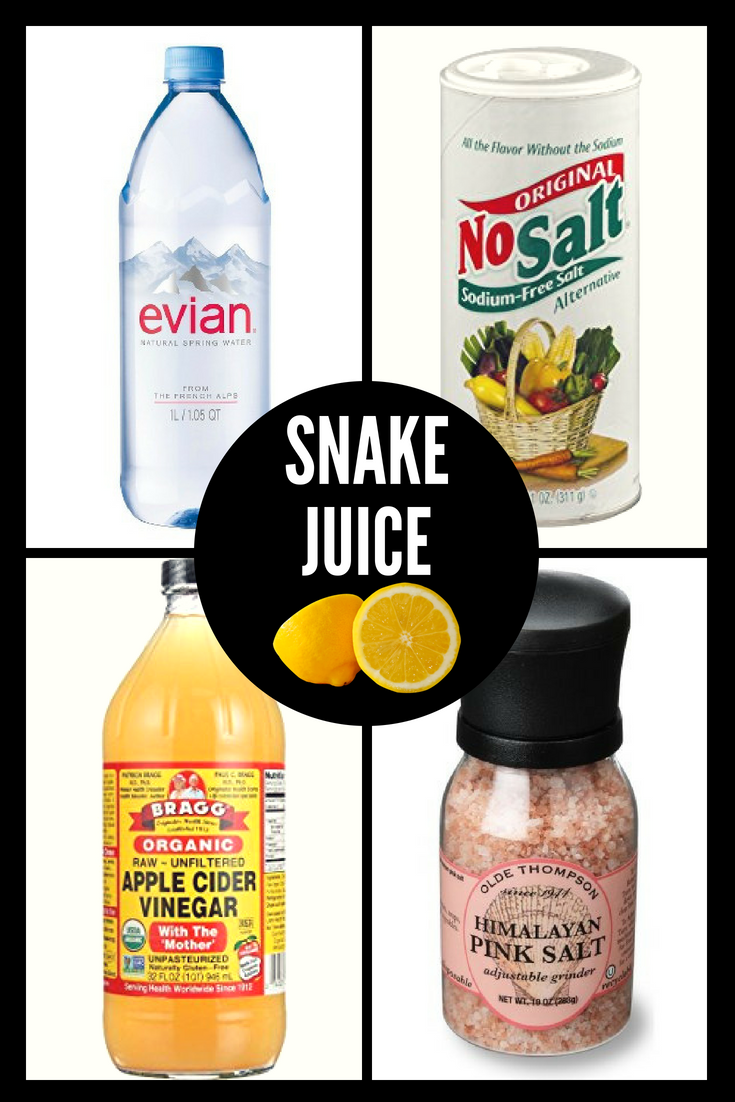 snake juice diet what water to use