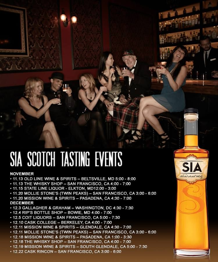 """Hello Friends & #Whisky Lovers! Happy #WhiskyWednesday! Mark your calendars and join us at one (or two, or three!) of our upcoming SIA #Scotch tastings! We know sometimes it takes a while to find that perfect #gift, but we've got you covered! """"Too much of anything is bad, but too much of good whisky is barely enough."""""""