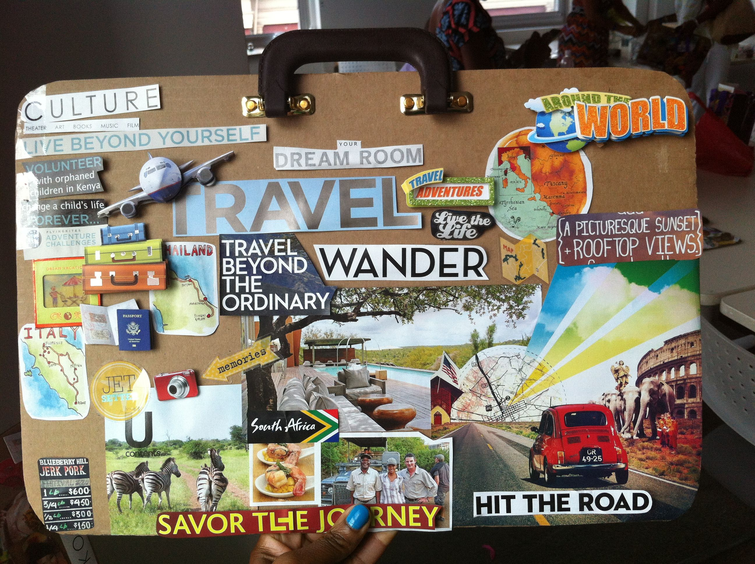tracey colemans vision board at ny passport party project