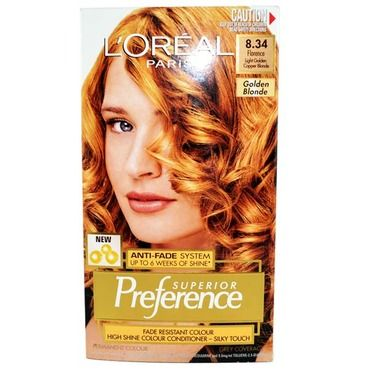 Loreal Pref Golden Copper Blonde 8 34 Color Conditioner Copper