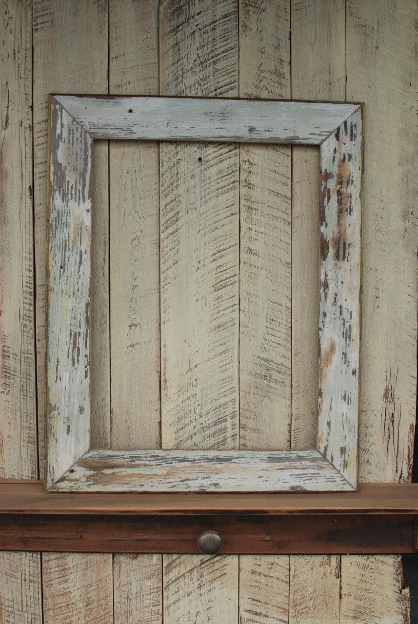 Fair weathered 18x24 reclaimed wood picture frame | Picture frame ...