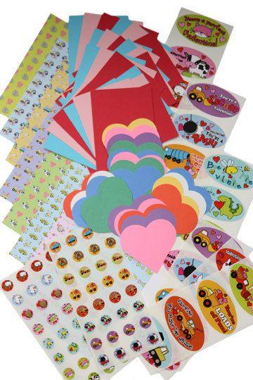 Valentine Card Making Kit for Kids by craftcaravanshop on Etsy