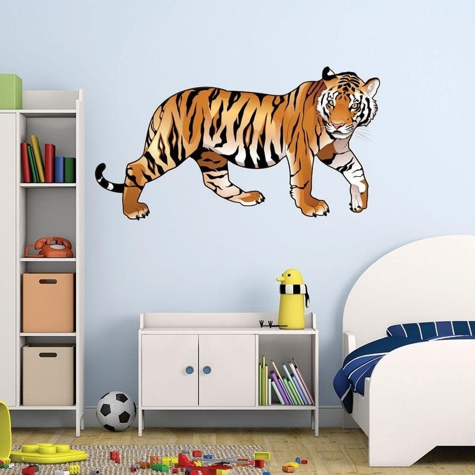 Style and apply colorful tiger wall decal products pinterest