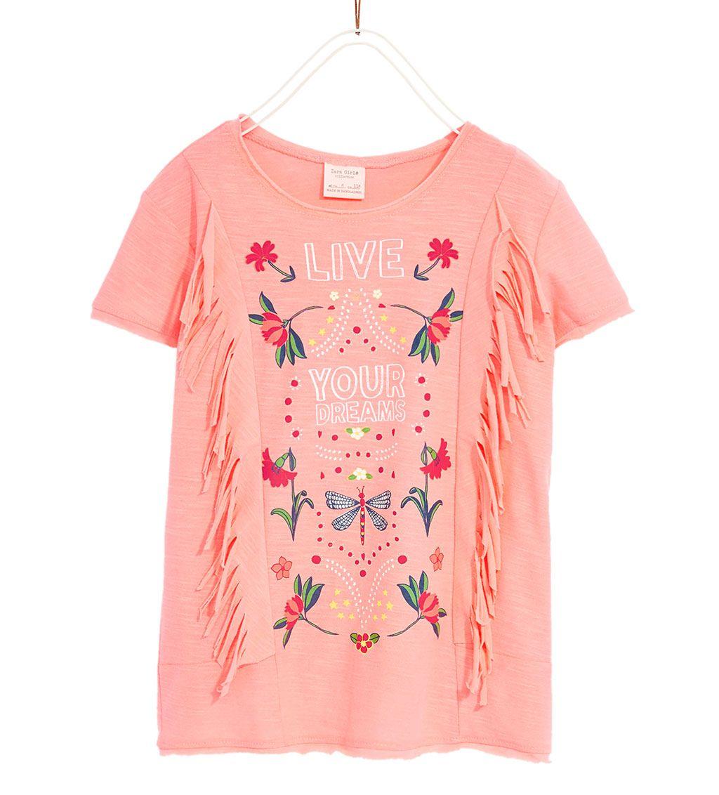 Ver 14 Niña4 Niños Flecos Todo Años Camiseta Camisetas Zara 1JTFc3lK