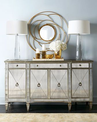 Amelie Mirrored Buffet | Amelie, Buffet and Consoles