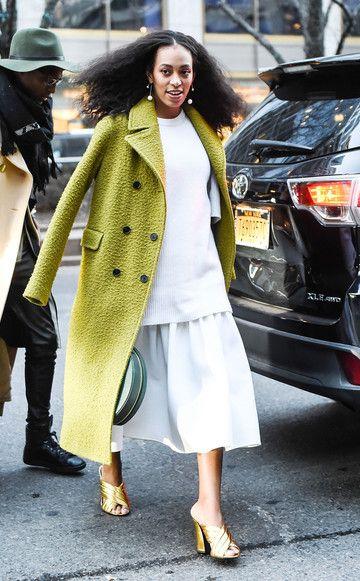 Solange Knowles auf dem Weg zu Alexander Wang, New York Fashion Week Herbst/Winter 2016 2017