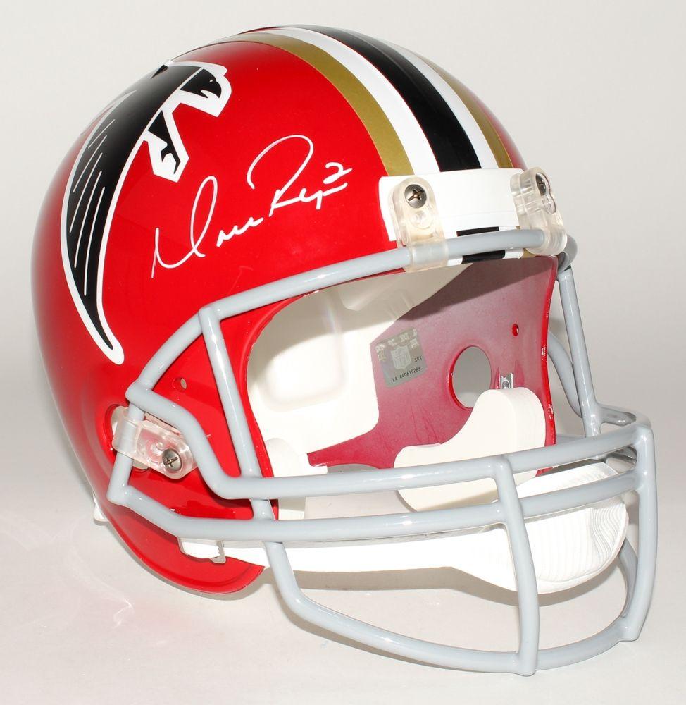 Matt Ryan Signed Atlanta Falcons Throwback Helmet Autographed Atlanta Falcons Throwback Helmet By Nfl 2016 Mvp And Boston Coll Helmet Football Helmets Falcons