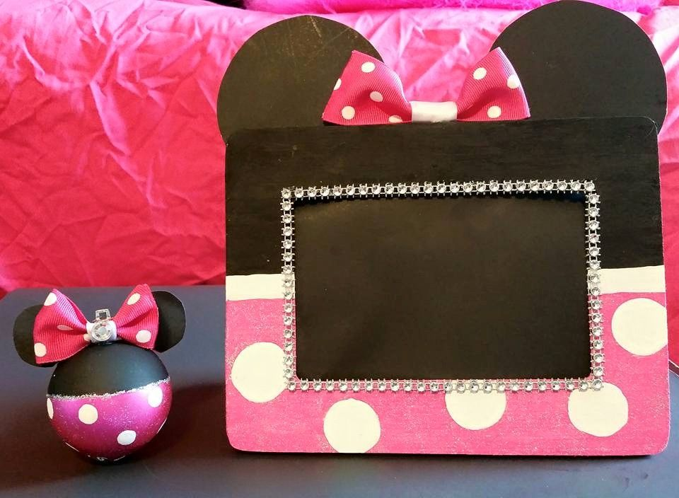 My Homemade Minnie Mouse Frame & Ornament #WristWork | Mommy\'s ...