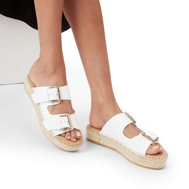 4955f64ccc Klever White Flatform Espadrille Sandals, Flatform By Carvela | Kurt Geiger