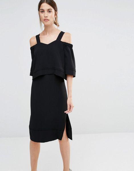 festliche kleider in schwarz als hochzeitsgast stilvoll feiern festmode und outfits f r. Black Bedroom Furniture Sets. Home Design Ideas