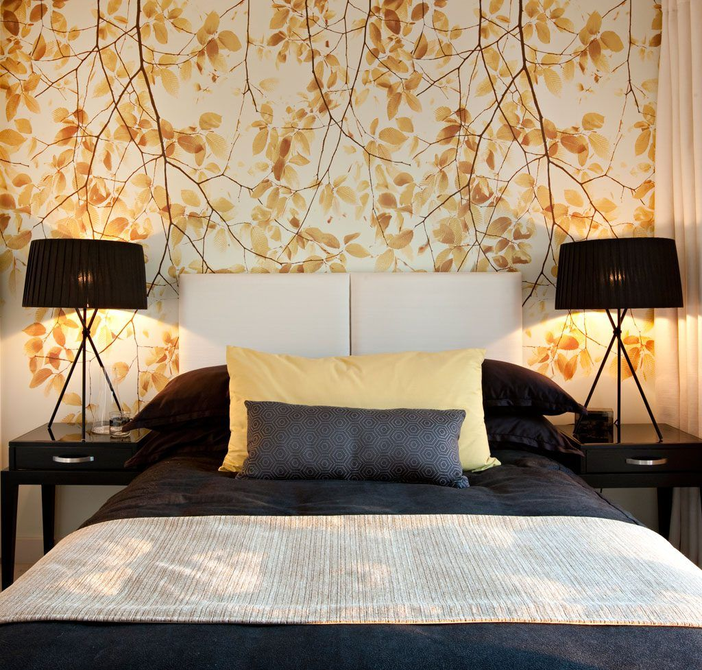 Schlafzimmer-Tapeten-Ideen 2014   Dekoideen   Schlafzimmer ...