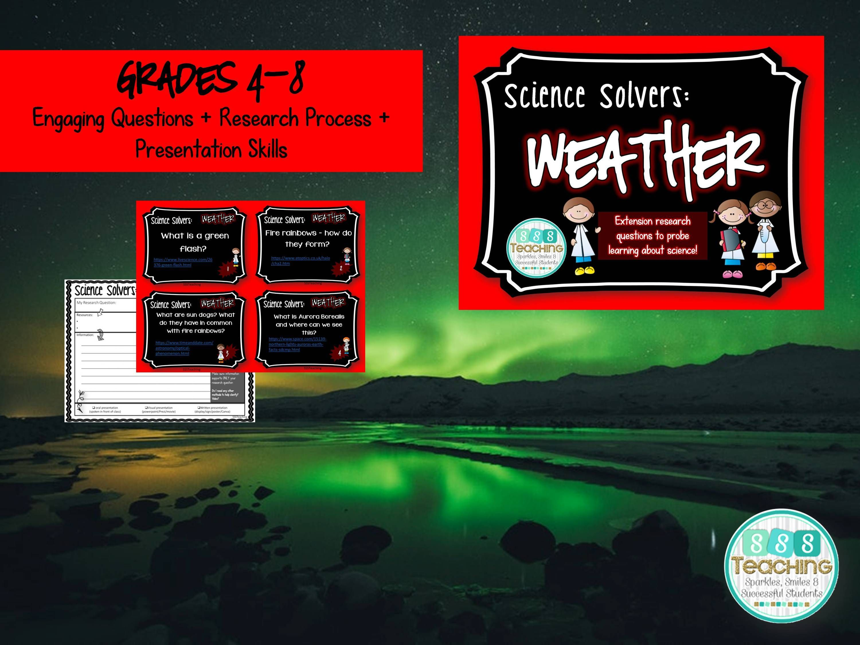 Science Solvers Weather Research Cards