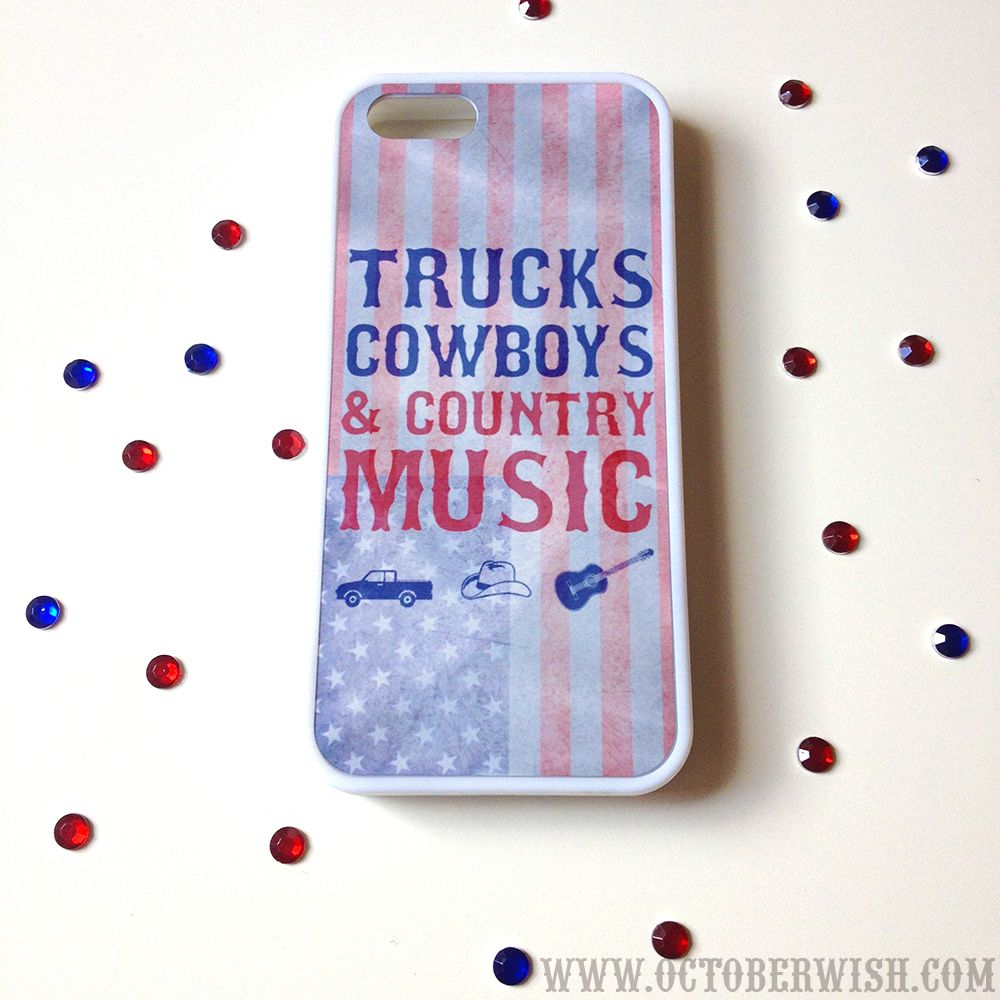 Trucks, Cowboys Country Music USA Phone Case.