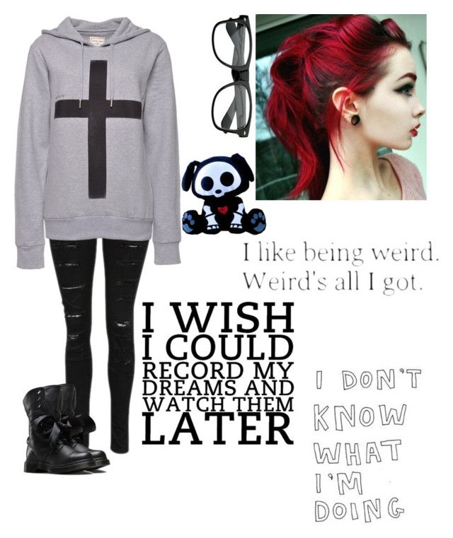 """""""I wuz Tagged :p"""" by nightmare-proxy on Polyvore featuring ElevenParis, Dr. Martens, Edition and Chloé"""