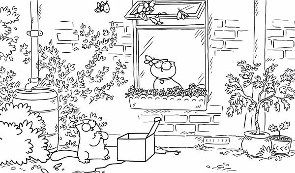 simon cat free coloring pages - photo#11