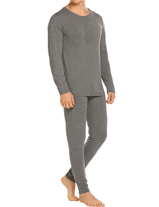 72afb080c0a7 Ekouaer Men's Thermal Underwear Soft Cotton Long Johns Winter Base  Layering Set S-XXXL Review