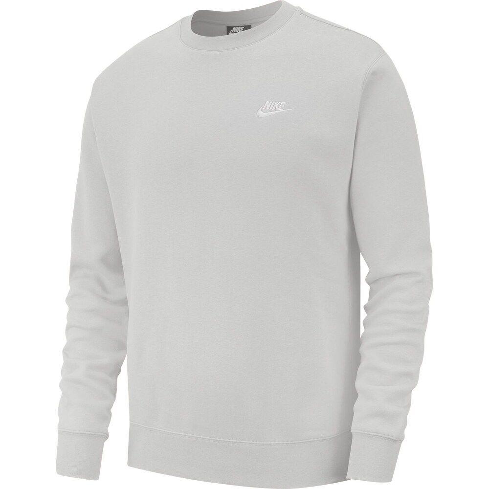 Men S Nike Club Fleece Crew Nike Men Long Sleeve Sweatshirts Grey Sweatshirt Mens [ 1000 x 1000 Pixel ]