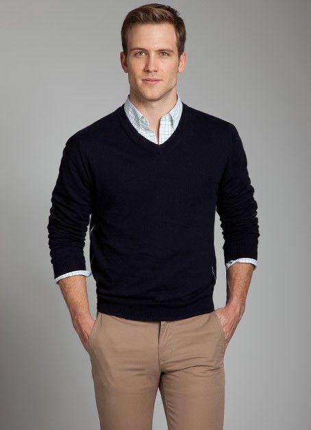 Trui Met Overhemd Heren.Kleurencombi En Trui Over Overhemd Voor Chris Moda Casual Hombre