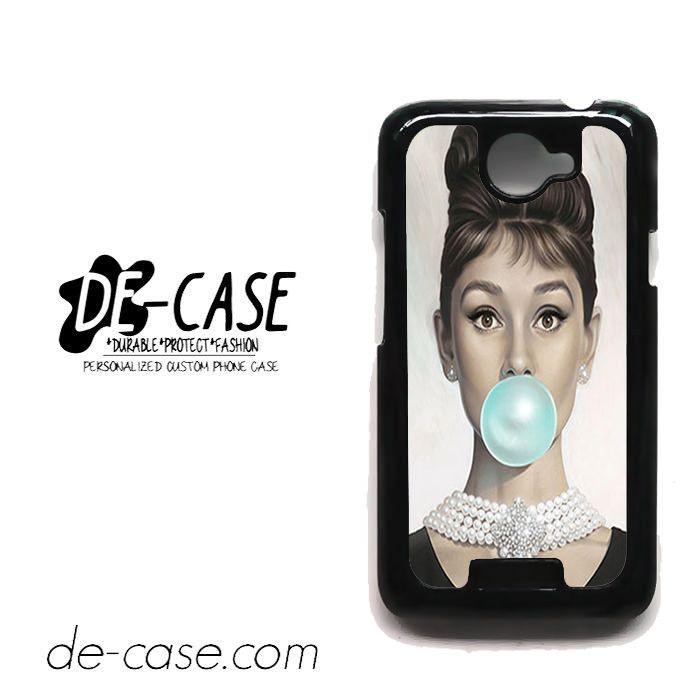 Audrey Hepburn Bubble Gum For HTC One X Case Phone Case Gift Present YO