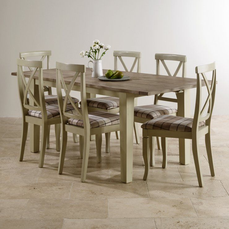 Isabella Brushed Acacia Dining Set   5ft Table With 6 Chairs