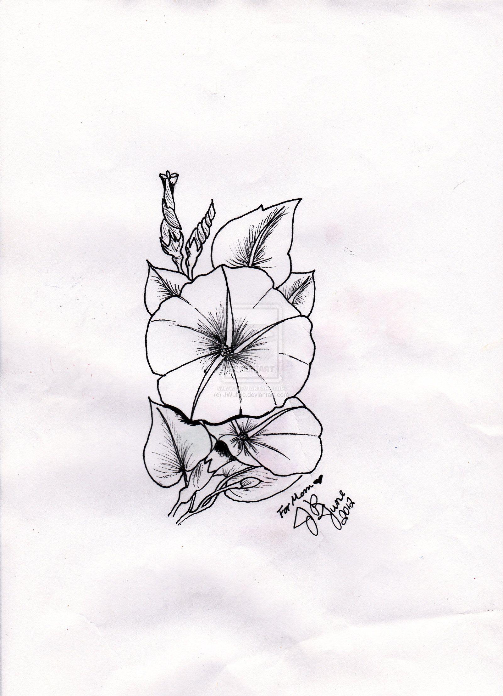 Moonflower Tattoo By Jwulfric On Deviantart Moon Flower Flower Vine Tattoos Morning Glory Flowers