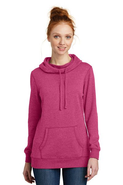 District Made DM493 Ladies Lightweight Fleece Hoodie from NYFifth