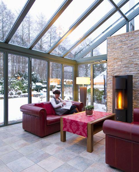 Giardino d 39 inverno greenhouse pinterest inverno giardino e verande - Giardino interno casa ...