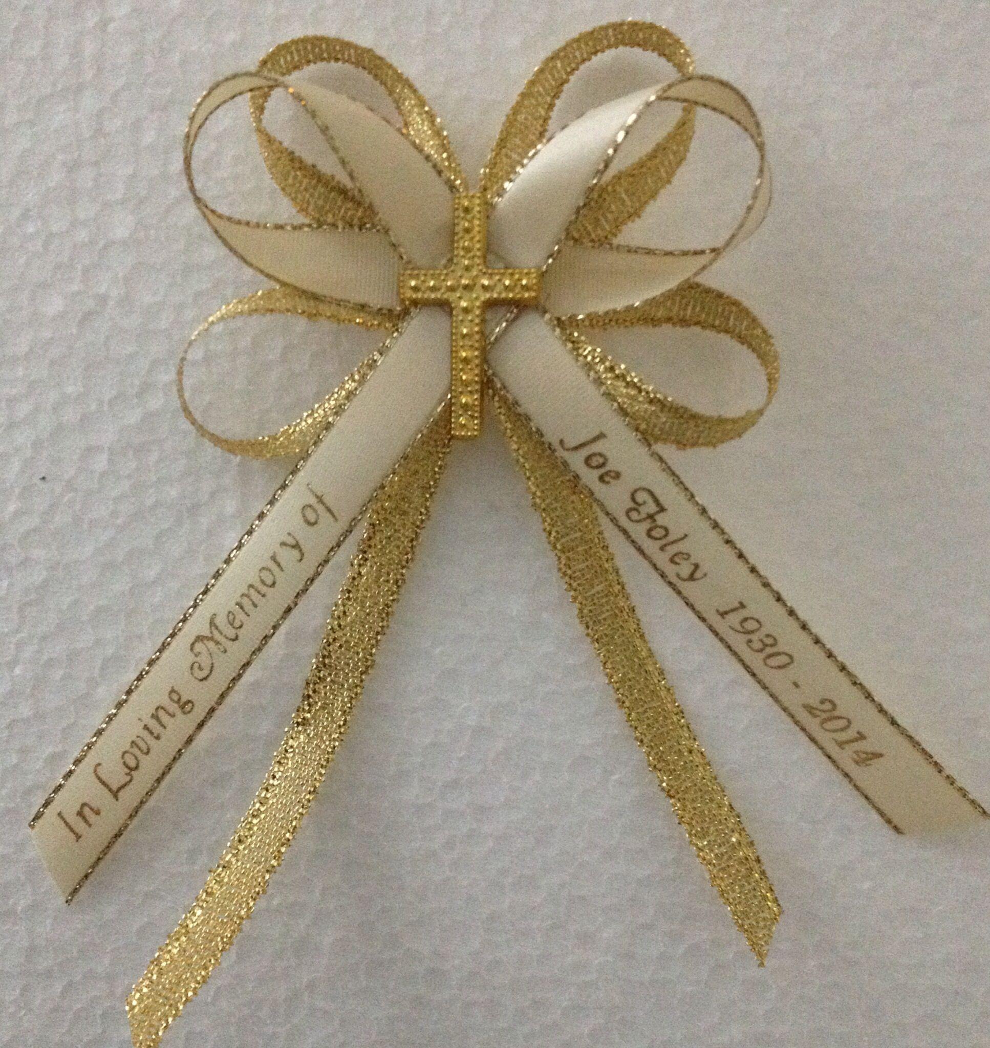 Brand-new Ribbon made to orderAnniversaries, Birthdays, Funerals, Baby  VT17