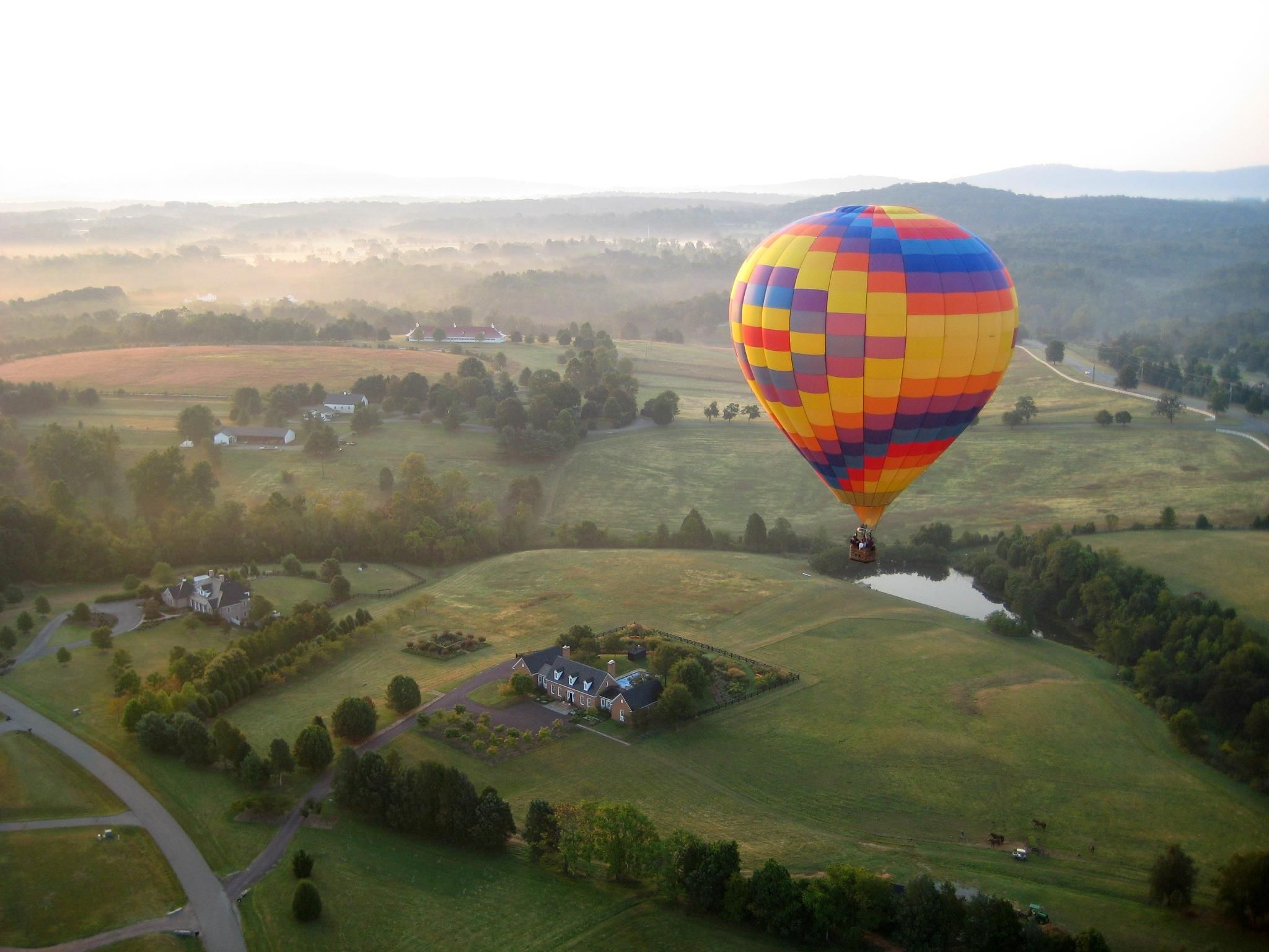 Hot air balloon ride for two one of the many prizes of