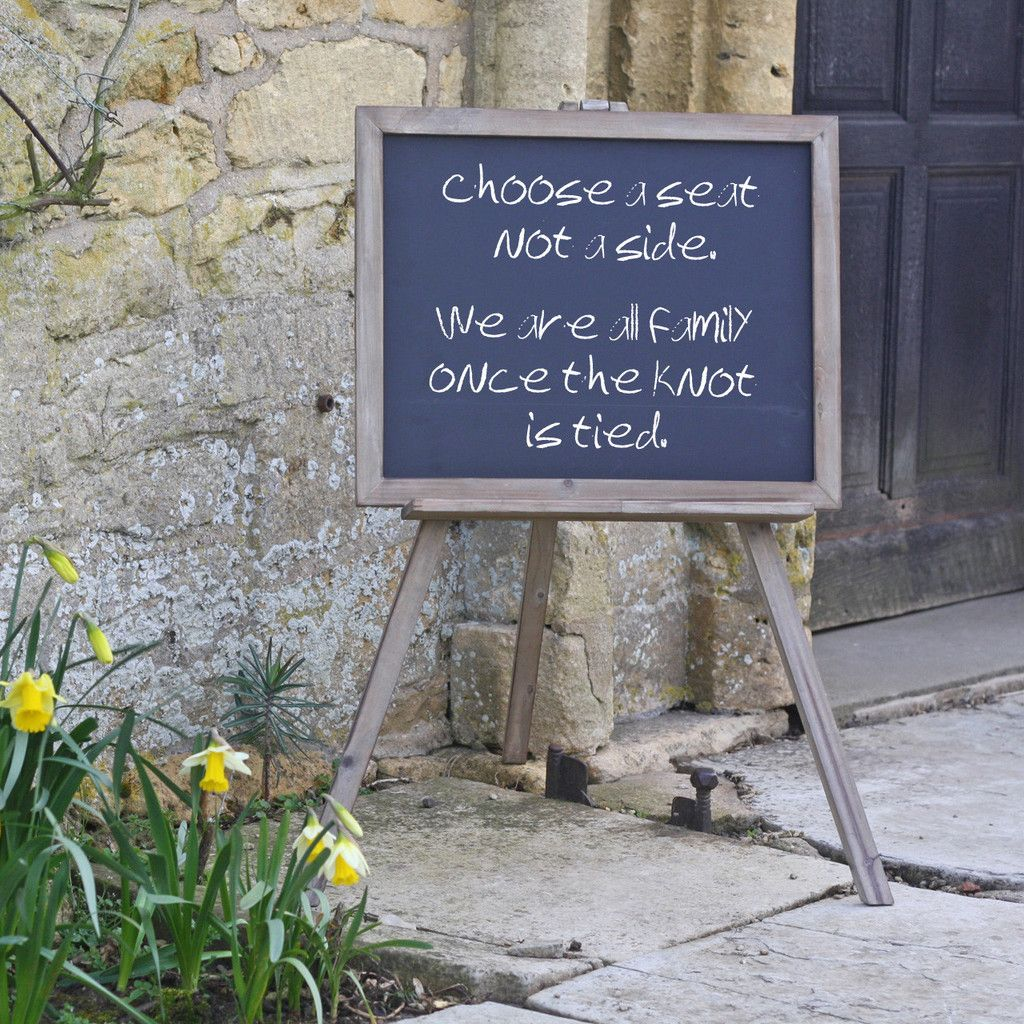 Blackboard Easel Wedding Sign Available From Www Theweddingofmydreams Co Uk Weddingdecorations
