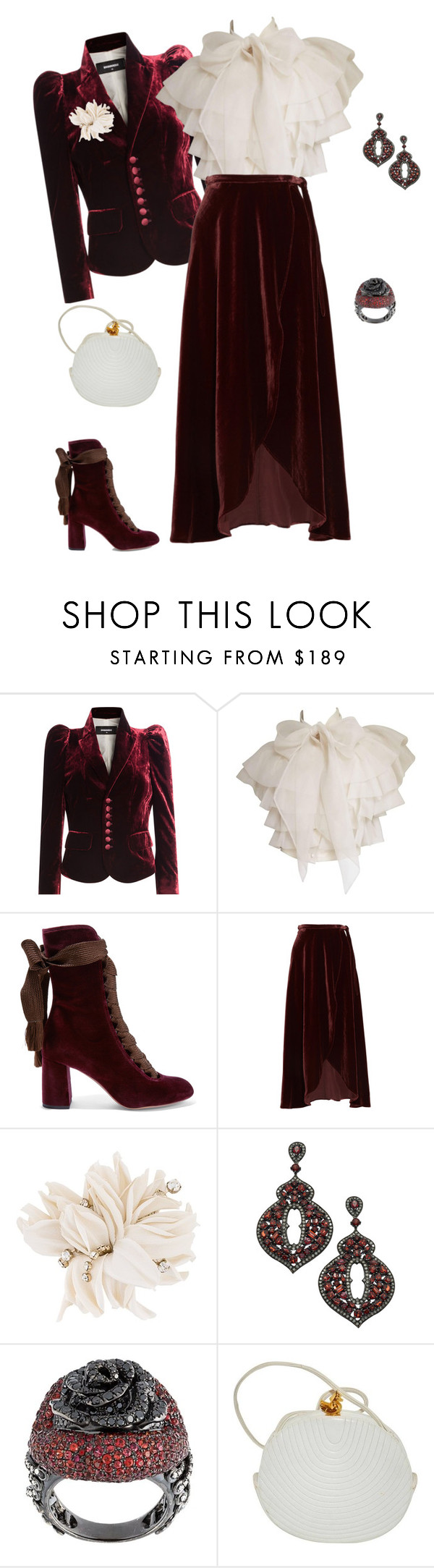 """""""outfit 5606"""" by natalyag ❤ liked on Polyvore featuring Dsquared2, Chloé, Reformation, Erika Cavallini Semi-Couture, Divya Diamond, Lydia Courteille and vintage"""