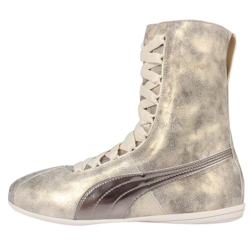 Rihanna X Puma Eskiva Hi Metallic Wns Gold Womens Aerobic Boxing Shoes  361021-02 0354263b5