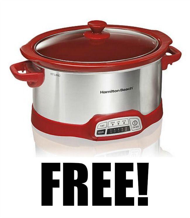 Free Hamilton Beach Programmable 5 Quart Slow Cooker 36 99 Value