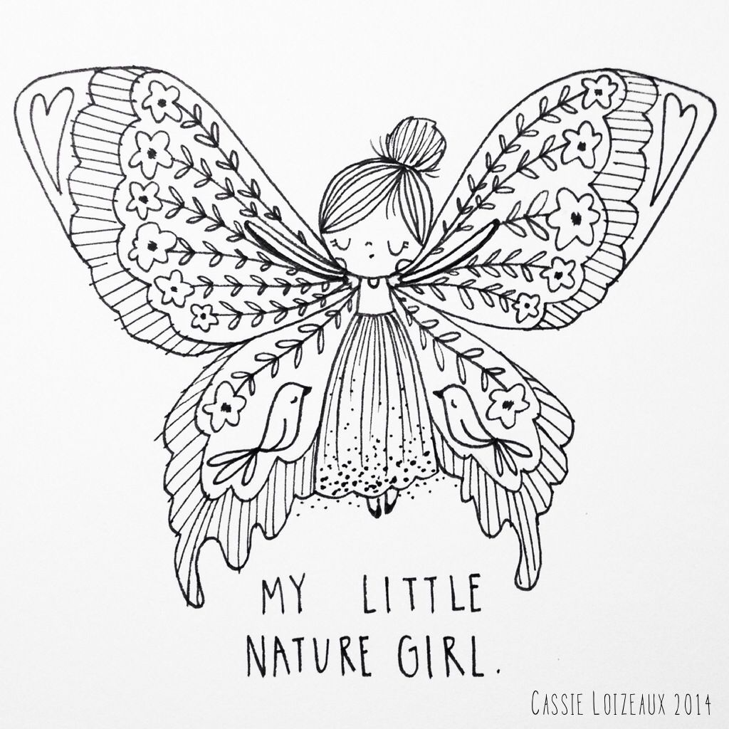 Nature girl day of yearlong sketchbook project cassie loizeaux