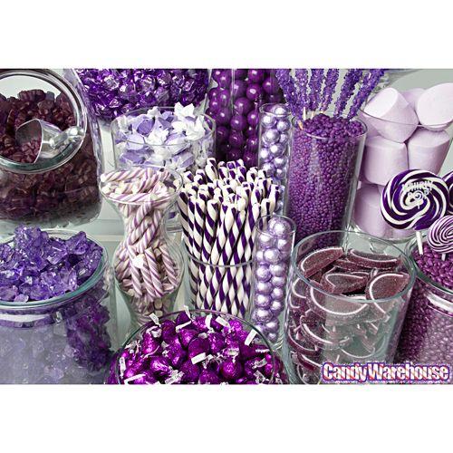 purple candy buffet