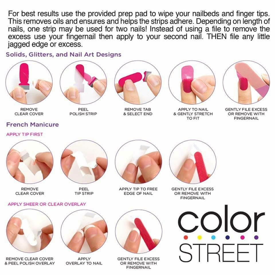 how to remove my color street nails