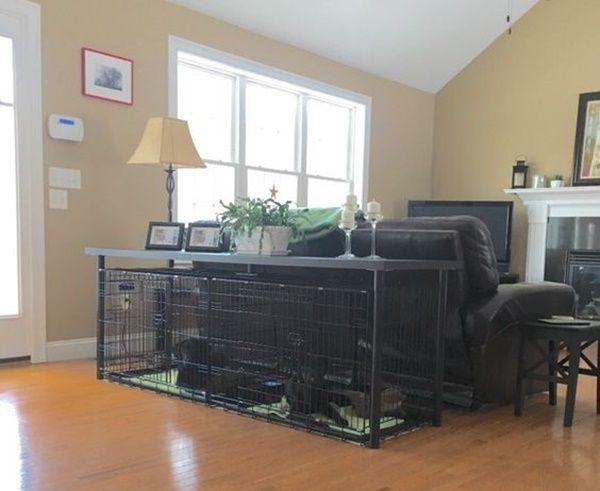 40 large dog crate ideas
