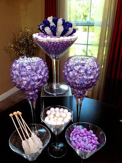 Chic & Modern Candy Centerpieces! Candy & Sweet Decor, Rock Candy ...