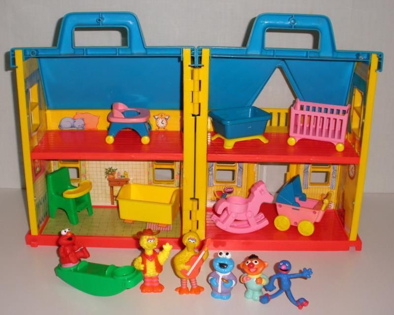 1991 Illco Sesame Street Nursery Playset With Accessories