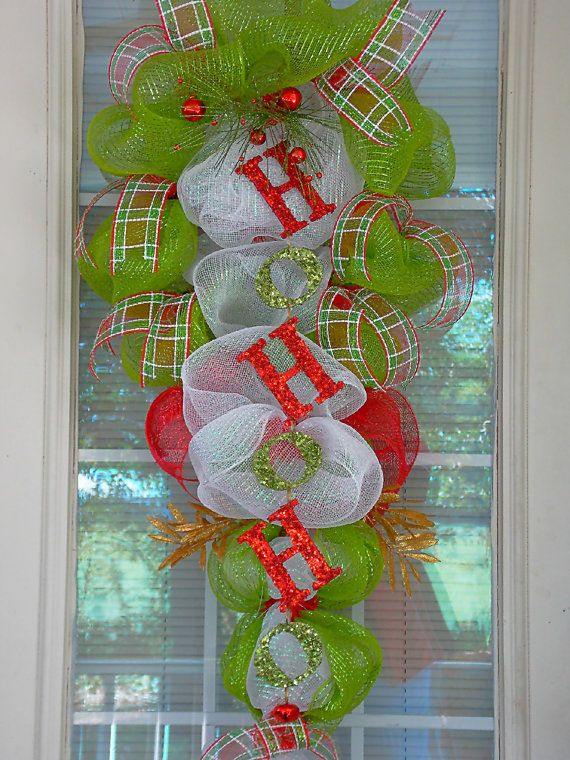 Christmas Deco Mesh Swag by PataylaFloralDesigns