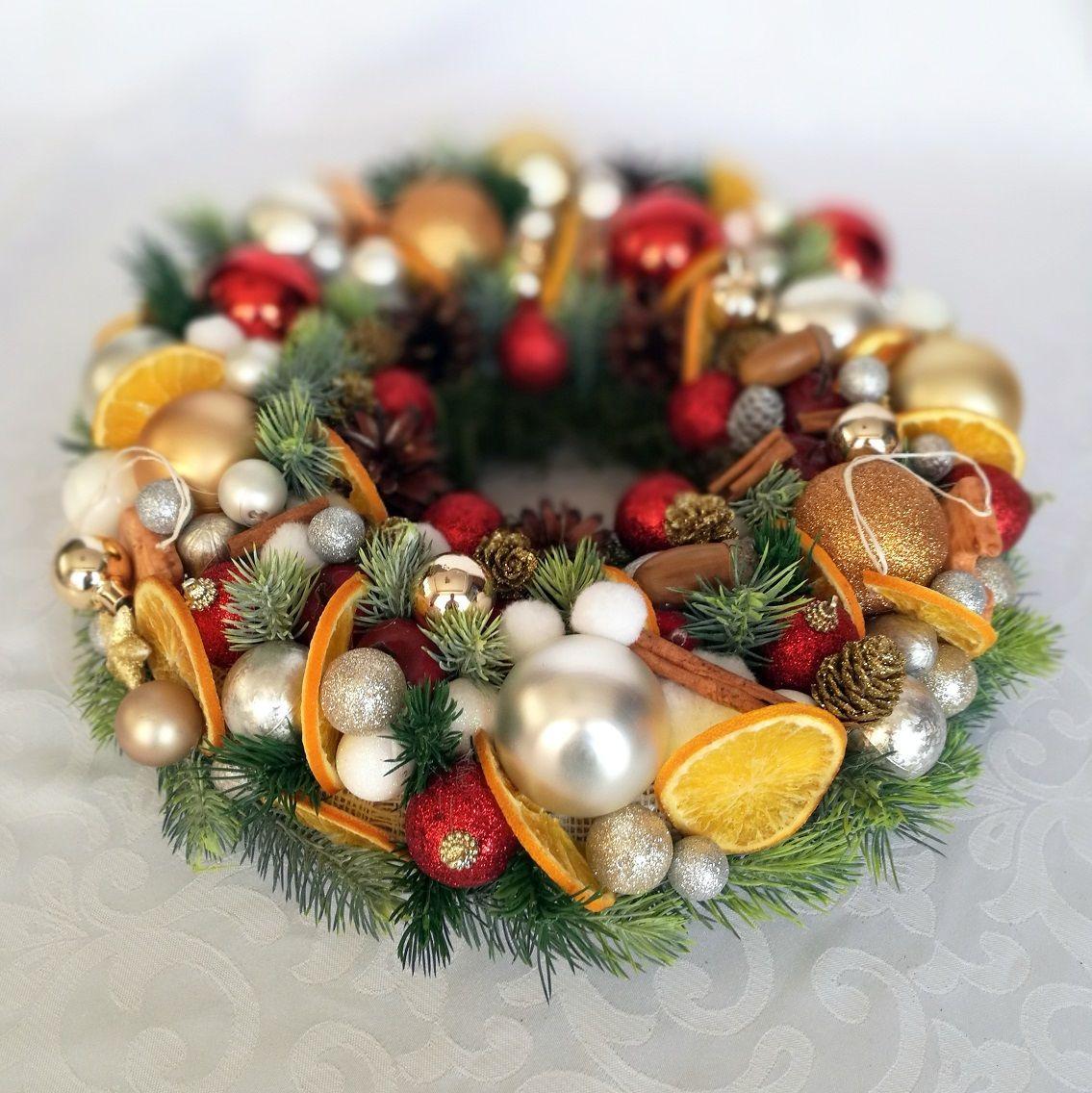 Christmas wreath with orange size M No. 59 – Christmas Ate …