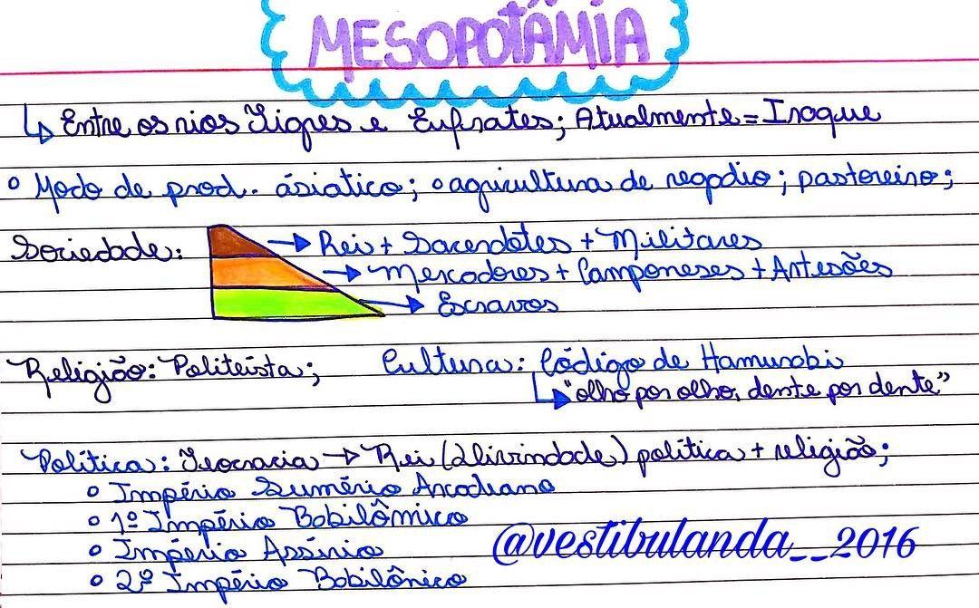 Mesopotamia Enem Estuda Com O Maior Site De Questoes Para O Enem E Vestibulares Do Brasil Organizacao De Estudo Resumos De Historia Historia Ensino Medio