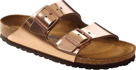Birkenstock Women s Arizona Metallic Copper Soft Footbed Sandals (N) 299c2f025e8