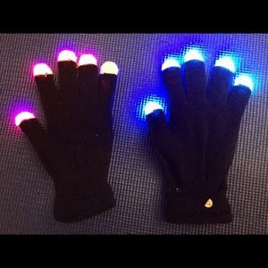 I just discovered this while shopping on Poshmark: NWT! Light up gloves!. Check it out!  Size: OS