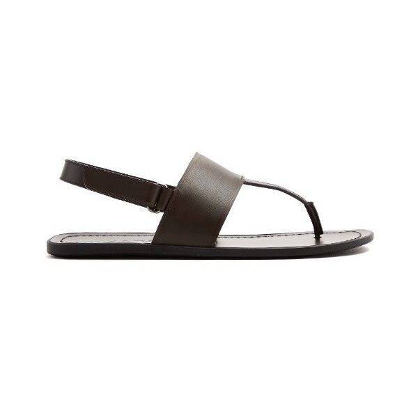 5ec9771537dc Prada Back-strap leather sandals ( 530) ❤ liked on Polyvore featuring men s  fashion