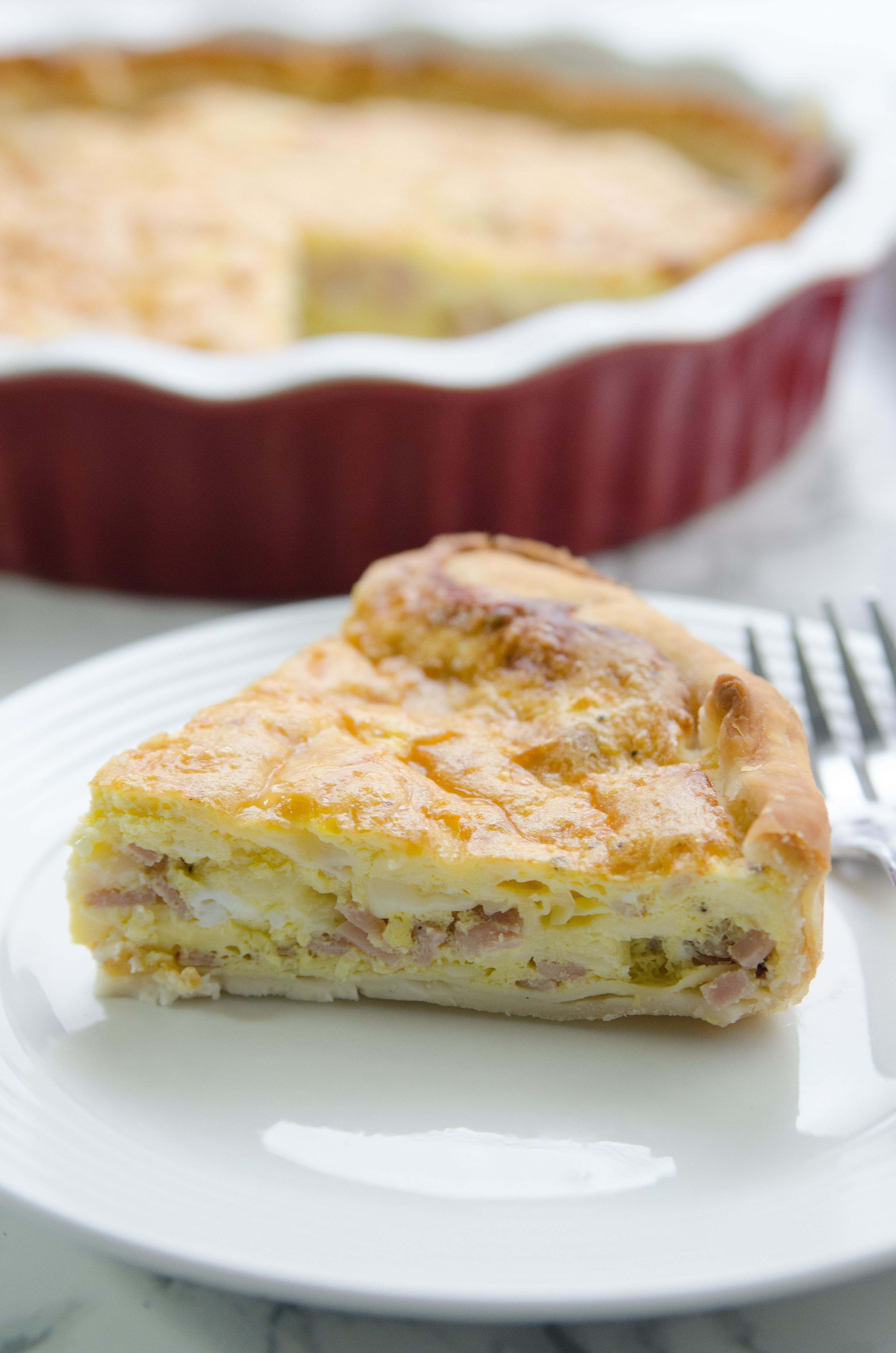 Easy Ham And Swiss Cheese Quiche A Well Fed Life Recipe Quiche Recipes Easy Cheese Quiche Swiss Cheese Quiche Recipe