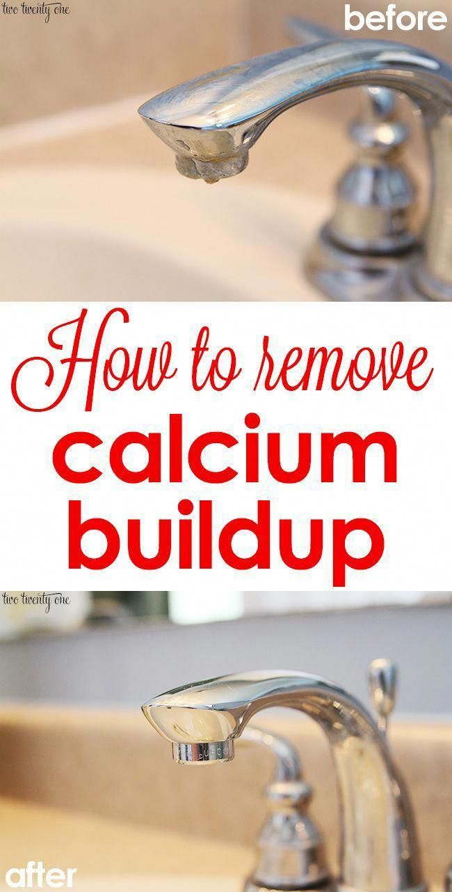 How to remove calcium buildup #DIYhomedecor