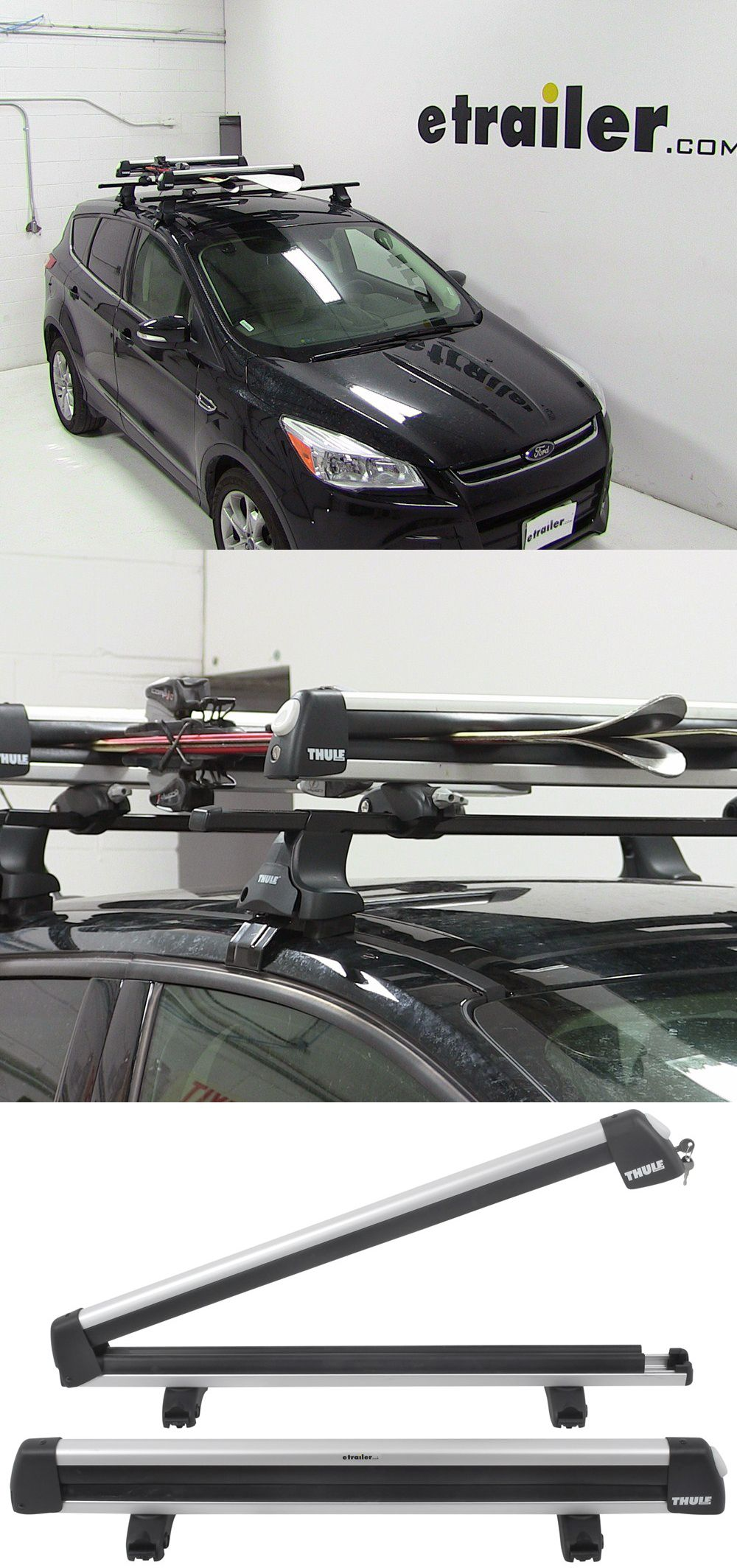 Transport Up To 6 Pairs Of Skis Or 4 Snowboards With This Durable Aluminum Carrier Mounts To Most Roof Rack Crossbars With U Ski Rack Ski And Snowboard Skiing